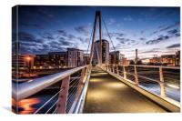 Bridge in Leeds At night, Canvas Print