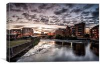 Leeds Sunset, Canvas Print