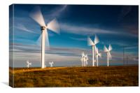 Turbines in Motion, Canvas Print