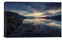 Loch Duich at Eileen Donan, Canvas Print