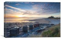 Bamburgh,Sunrise, Canvas Print