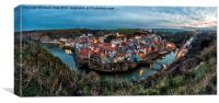 Staithes, At Dusk,east coast,Yorkshire,, Canvas Print