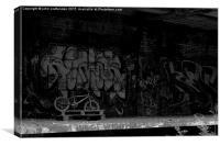 abandoned bike , Canvas Print
