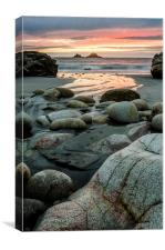 Porth Nanven Sunset, Canvas Print