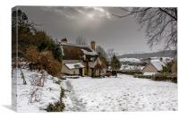 Selworthy in the Snow, Canvas Print