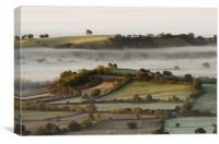 A view from the Mendip, Canvas Print