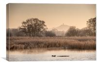 Somerset Levels on a Frosty Morning, Canvas Print