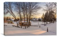 Snowy Sunrise, Canvas Print