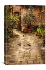 Venetian Courtyard, Canvas Print