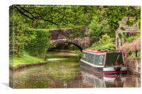 By the Canal Bridge, Canvas Print