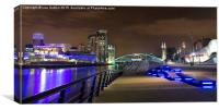 Salford Keys at night, Canvas Print