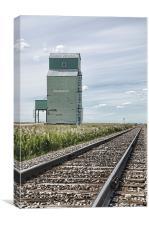 Craddock Grain Elevator, Canvas Print