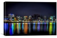 Busan CIty Reflections, Canvas Print