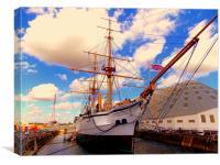 HMS Gannet, Canvas Print