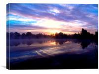 Monk Lakes Sunrise Maidstone Kent, Canvas Print