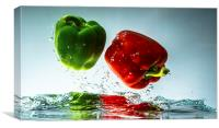 Dancing Peppers, Canvas Print