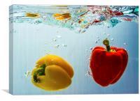Pepper Drop!, Canvas Print