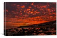 Fire Sky!!, Canvas Print