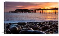 Deal Pier Sunrise, Canvas Print