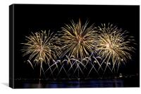 Firework flowers at Cannes, France, Canvas Print