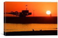 Sunset at Porto, Portugal, Canvas Print