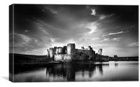 Caerphilly Castle, Canvas Print