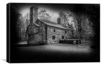 Old farm house, Canvas Print