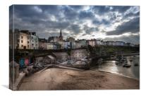 Evening Light at Tenby Harbour  , Canvas Print