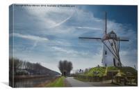 Windmill at Damme, Belgium, Canvas Print