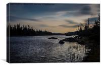 Kenogamissi sunset, Canvas Print