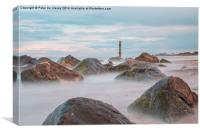 Caister rocks, Canvas Print