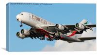 Emirates Airbus A380, Canvas Print