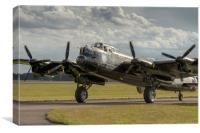 The Canadian Avro Lancaster, Canvas Print