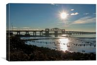 Kincardine Bridge moment., Canvas Print