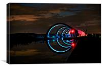 Falkirk Wheel night light, Canvas Print