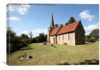 St Mary's Church, Fairstead, Essex, Canvas Print