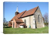 St Germanus' Church, Faulkbourne, Essex, Canvas Print