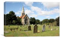 St Peter's church, Great Birch, Essex, Canvas Print