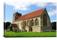 St Mary's church, Lawford, Essex, Canvas Print