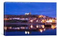 Night Time in Whitby, Canvas Print
