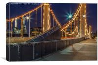 the nuts and bolts of Chelsea bridge, Canvas Print