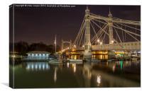 Albert bridge London at dawn, Canvas Print