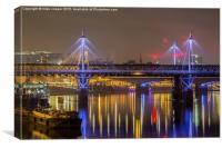 jubilee bridge lights, Canvas Print
