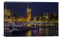 night on the Thames, Canvas Print