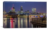 people enjoying the South bank, Canvas Print