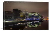 south bank in the mist, Canvas Print