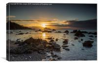 sunrise over Thatchers rock, Canvas Print