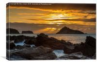 sunrise over Thatchers rock , Canvas Print