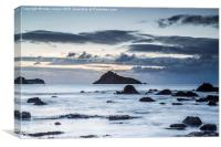 dawn is  breaking over south Devon, Canvas Print