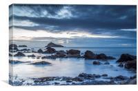 Meadfoot beach low tide sunrise, Canvas Print